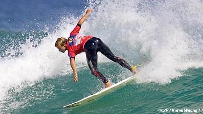 Trent Munro (Scott's Head, Aus) clinched the Rip Curl Pro title at Woolamai Beach, Phillip Island.